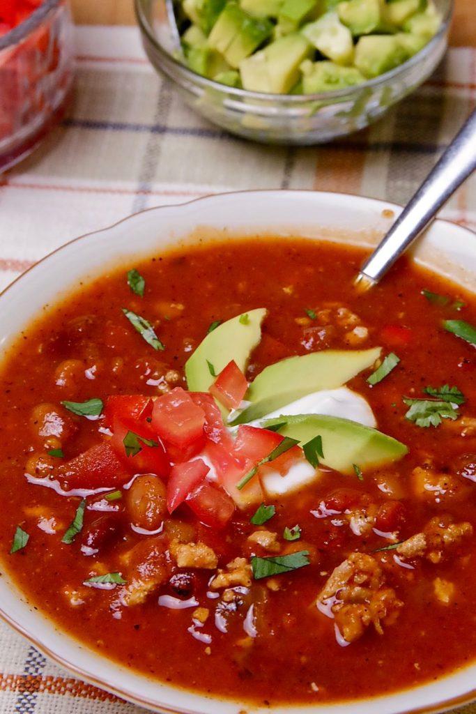 Quick And Easy Chili Soup Mia S Cucina